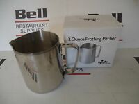 *NEW* UPDATE EP-12 STAINLESS STEEL 12 OZ FROTHING PITCHER - FREE SHIPPING