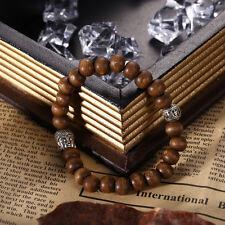 New Fashion Men Wood Buddha Buddhist Prayer Beads Tibet Mala Wrist Bracelet Gift