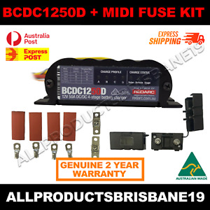 REDARC Battery Charger DC To DC 50A BCDC1250D - INC MIDI FUSE KIT