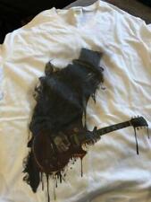 New SLASH Guitar T Shirt - Men's Medium White V neck