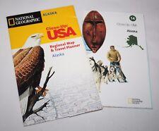 National Geographic-Cierre: EE. UU. - Alaska-Mapa y viajes Planificador - 1998