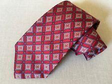 NWT $110 BURMA BIBAS 100% Silk Necktie Red Wine Fantastic Tie! Free shipping