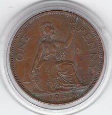 Scarce   1951    King   George   VI   Penny  Large   Bronze  Coin