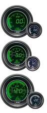 Prosport 52mm Evo coche Boost Bar + presión de aceite + Aceite Temp Blanco Verde Medidores