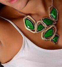 AMRITA SINGH  Harper Cut Out  Emerald Resin Statement Bib Necklace NKC 1640