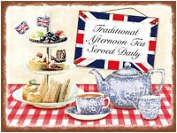 Traditional Afternoon Tea advertisng sign 20x30cm metal wall plaque