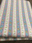 Vtg Country Classics Ameritex Cotton Blend Fabric Striped Floral 2 Yards x 43'
