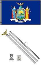 2x3 2'x3' State of New York Flag Aluminum Pole Kit Set