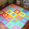 26pcs Soft EVA Foam Baby Kids Play Mat Alphabet Number Puzzle 30x 30cm