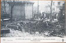 Zeppelin/Airship WWI Disaster/Crash/Paris Wreckage 1916 French Aviation Postcard