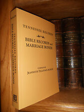 Tennessee Records Bible Records And Marriage Bonds Genealogy Book