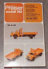 D173 Preiser 1300 Dreiseitenkipper MAN 19.321 HAK Kommunal Bausatz 1:87