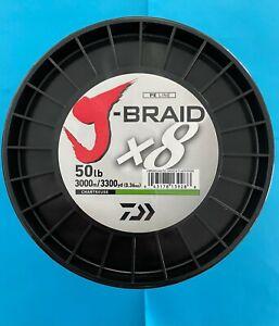 Daiwa J-Braid 3300 Yards 3000 Meters Chartreuse 30 40 50 65 LB J-Braid x 8