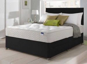 ORTHOPEDIC DIVAN BED SET + MATTRESS + HEADBOARD SIZE 3FT 4FT6 Double 5FT King