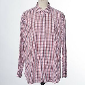 Turnbull & Asser Red Check Casual Shirt 43/17 UK Made