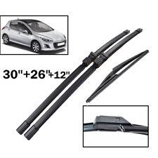 3PCS/Set Front Rear Windscreen Wiper Blades Kit Fit For Peugeot 308 T7 Hatchback