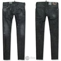 DSQUARED2 Herren Jeans Slim Jean SIZE 48 50 52 black distressed Chain DSquared 2