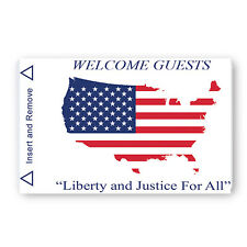 USA Flag Map Generic Magstripe Hotel Keycards - Case of 2,500