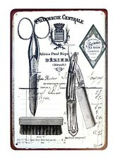 Pharmacie Centrale Barber Shop metal sign tin posters