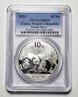 2013 China Panda 10 Y 1 oz. 999 Silver Coin PCGS MS69