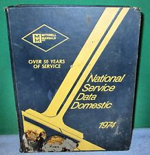 Vintage Book - National Service Data Domestic 1974 by Mitchell Manuals