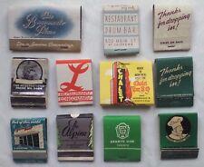 VINTAGE MATCHBOOKS,CANADA.RESTAURANTS.BENVENUTO,MAC-DOEL'S.USED.PART USE,UNUSED