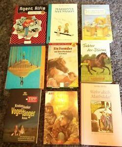 Bücher Konvolut - 9 Taschenbücher Jugendbücher/ Romane / Titel siehe Fotos Gut