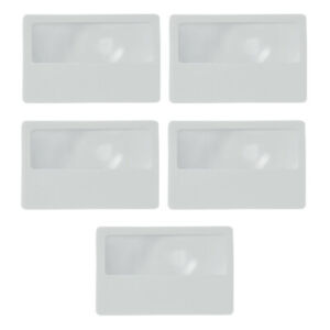5 Piece Lens Magnifier Magnifying Reading Glass Credit Card Wallet Size Strength