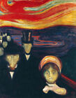 Anxiety Edvard Munch Painting Print CANVAS Reproduction Giclee Poster Small 8x10