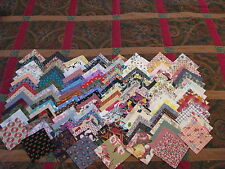 "100% Cotton Assorted Charm Pack Fabric Quilt Squares 120-3"" Vtg Quilts Crafts"