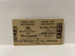 NSWGR Railway Week Day Excursion Return Ticket City To Warrawee Unused