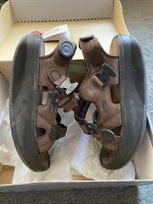 Masai Barefoot Physiological KISUMU Chocolate Leather/Textile Women's US Size 8