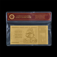 WR 2008 Zimbabwe 20 Trillion Dollars Banknote Currency 24K GOLD In COA Sleeve