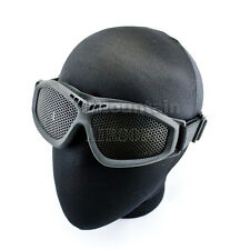 Military Soft Rubber Mesh Protection Glasses Goggles / Black (KHM Airsoft)