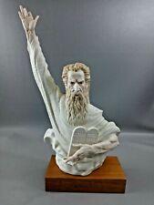 L👀K Vintage Cybis Porcelain Bust Sculpture Moses The Great Lawmaker #53