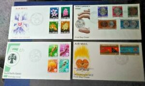 Papua New Guinea 1974-1975 Four First Day Covers