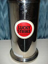 FLOOR STANDING ASHTRAY STAINLESS STEEL LUCKY STRIKE LOGO & WASTE BASKET