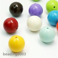 5pcs Cute Chunky Bubblegum Acrylic Beads 24mm Assorted Colours Beading Craft