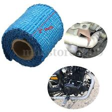 HEADER EXHAUST TURBO INTAKE MANIFOLD DOWN PIPE BLUE HIGH HEAT WRAP TAPE 1M 2''