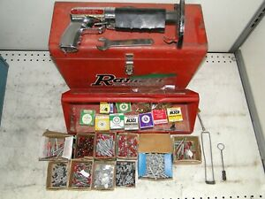RARE! VINTAGE Ramset Jobmaster 112MD OLIN Powder Actuated Fastener w/ Case Pins
