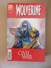 WOLVERINE n°209 2007 CIVIL WAR Panini Marvel Italia  [G806]