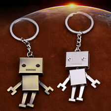 Cute Robot Metal Keychain Pendant Key Chain Key Ring Accessories Gift
