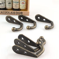 10pcs Wall Door Metal Antique Hooks Hangers For Key Clothes Coat Hat Bags Towels