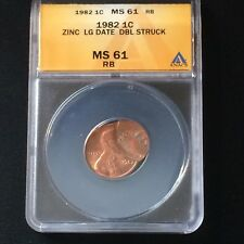 Graded Mint Error 1982 Double Struck Cent With RARE Double Dates!!