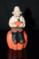 Midwest of Cannon Falls Thanksgiving Pilgrim Sitting on a Pumpkin Figurine