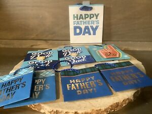 FATHERS DAY HALLMARK GIFT BAGS LOT OF 8 SMALL BAGS ASSORTED NEW