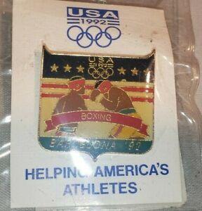 Vintage 1992 USA Olympics Barcelona Boxing Pin NEW