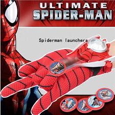 Kinder Superhelden Spiderman Launcher Handschuhe Cosplay Spielzeug Geschenk DE