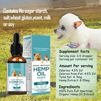 Hemp Oil For Dogs and Cats 30ml  Beef Flavor - Calming/Arthritis/Pain/Seiz
