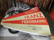 More details for franz ferdinand megaphone promo card display not poster cd vinyl rare vintage